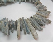 Gemstone Bead,Blue kyanite long Stick Bead, Raw Kyanite Bead, Blue Kyanite shards,  18-35  MM Priced for30 pieces