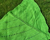 Neon Green Knitted Shawl