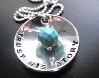 Trust His Story Sterling Silver Necklace, Turquoise