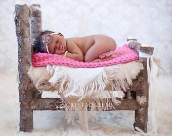 Burlap Blanket Photography Prop Burlap Layering Newborn Baby Photo Prop Mini Burlap Blanket