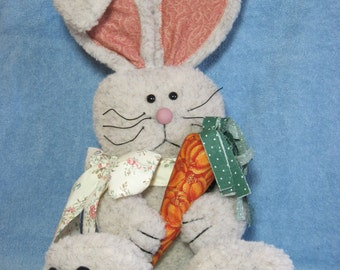 "Rabbit pattern:  ""A Carrot for Me"" - #413"