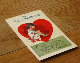 Vintage Valentine To My Sweetheart Valentine Postcard