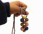 Nursing Necklace/ Teething Necklace / Crochet Accessory / Toddlers Necklace / Pendant