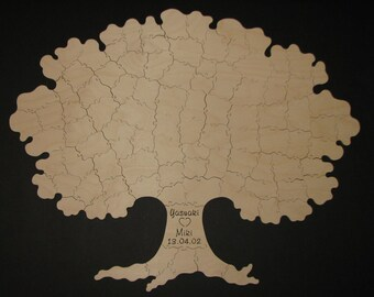 110 pc Puzzle Guest Book TREE - Hand Cut Wooden Jigsaw Puzzle