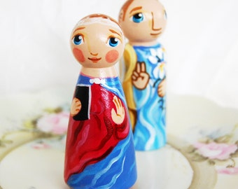Annunciation Peg Doll Set - Catholic Saint Dolls Catechesis of the Good Shepherd