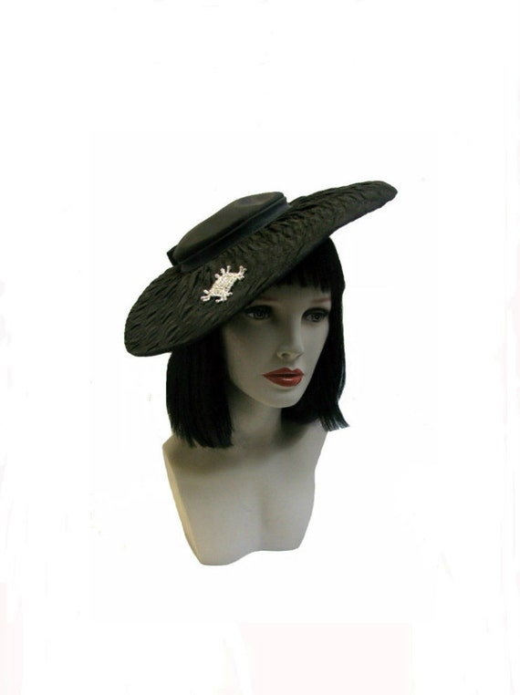 vintage womens cocktail hat 1950s womens formal soiree