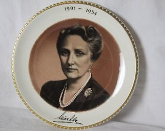 Princess Martha of Sweden Crown Princess of Norway Photo Plate by Stavangerflint Swedish Norwegian Royalty