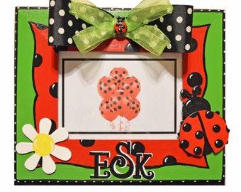 Personalized Girl's Ladybug Frame