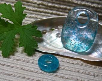 MADE TO ORDER Glass Beads Pendant Set  / Artbeads / Meditation Bead / Craft Supply / Jewelry Supply