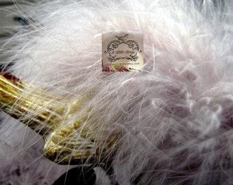 Vanilla Grey Marabou Boa Feathers