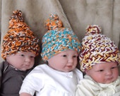 NFL..... TopKnot Hats...Infant..Newborn and 0 to 3 month Sizes.... Perfect Gift...Boy or Girl...Team Spirit...Warm for Baby