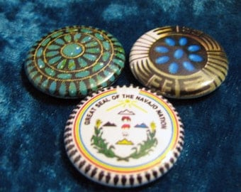 Navajo Designs Native American Button Set