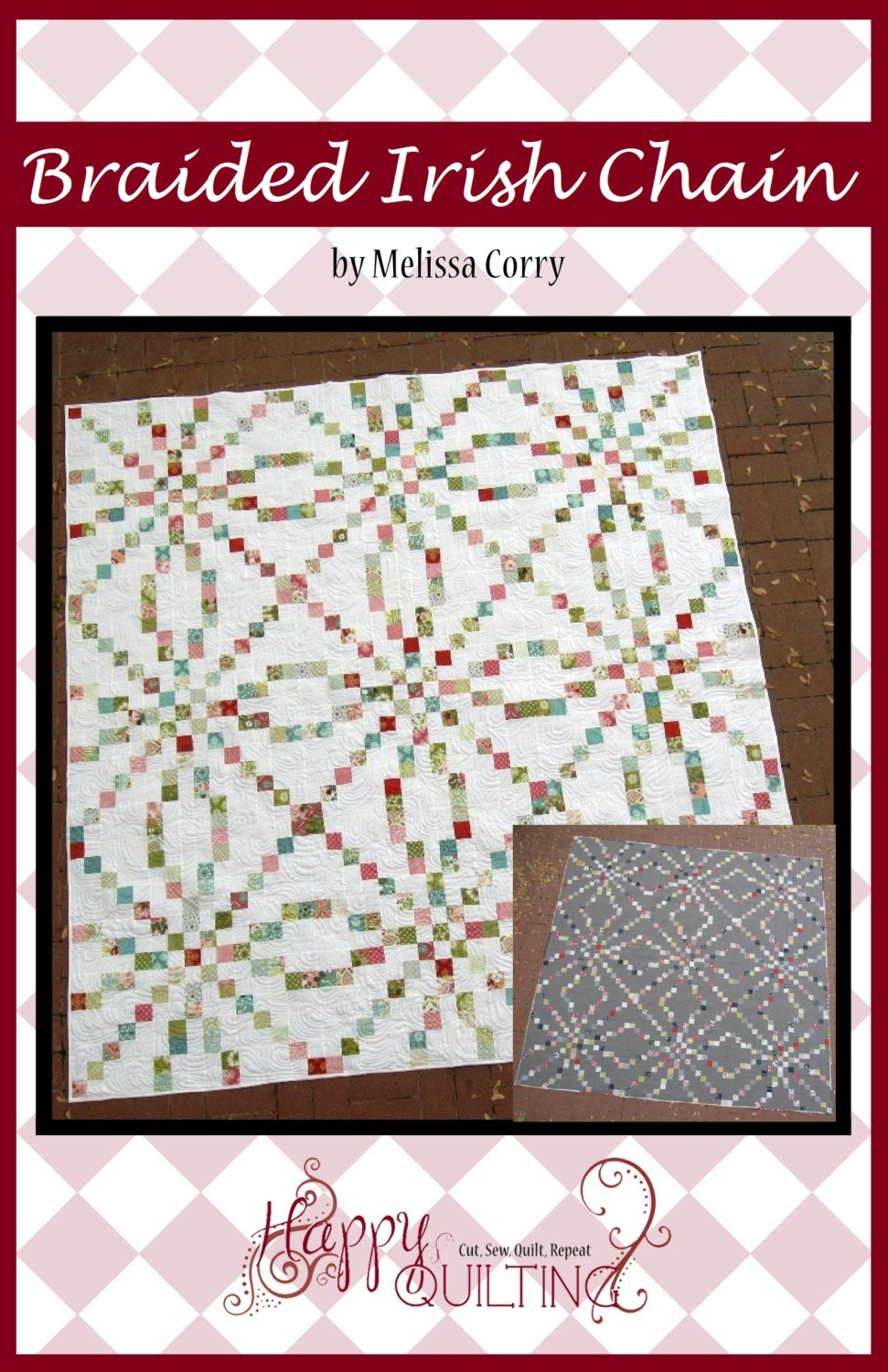 Braided Irish Chain Pdf Quilt Pattern With 6 Size Options