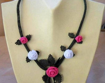 Little Pink Roses Necklace