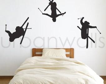 Vinyl Wall Sticker Decal Art - Ski