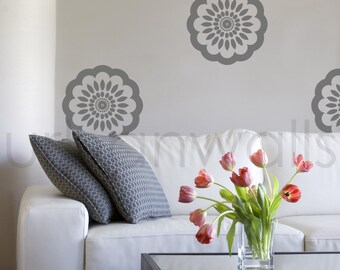 Vinyl Wall Sticker Decal Art - Floral Pattern