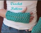 CROCHET PATTERN - Crochet Gloves Pattern, Fingerless Mittens Pattern, Fingerless Gloves Pattern, Easy Crochet Pattern
