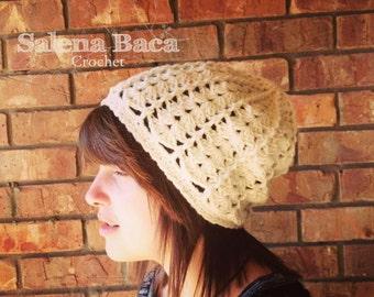 PDF Crochet Pattern - Stephanie Shell Cap (0-6m, 6m-3y, 3-8y, 8-12y, YA/A)