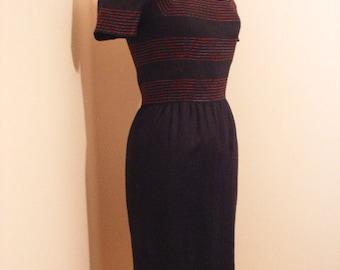 Sexy Pin Up OSCAR DE LA Renta Vintage Mad Men 50s Style Dress