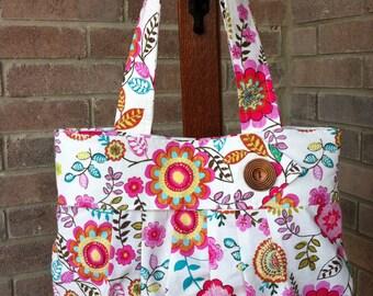 The Rue - Fabric Tote/Handbag/Purse/Hobo