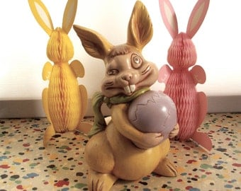 Vintage Ceramic Winking Rabbit
