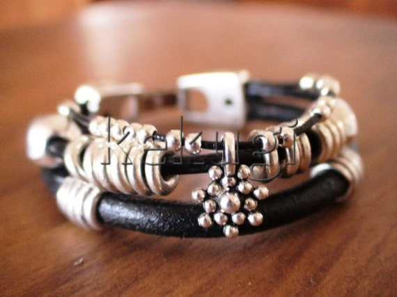 stacking bracelet, stacked bracelets, stack bracelet, beads bracelet, womens bracelets, leather bracelet, wrist accessories, silver bracelet
