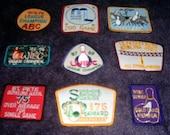 Vintage BOWLING Patches Lot Fantastic Retro Graphics
