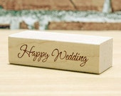 Happy Wedding Stamp (2 x 0.6in)