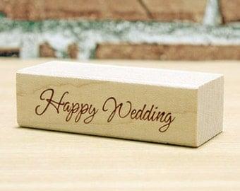Happy Wedding Stamp (2 x 0.6in)