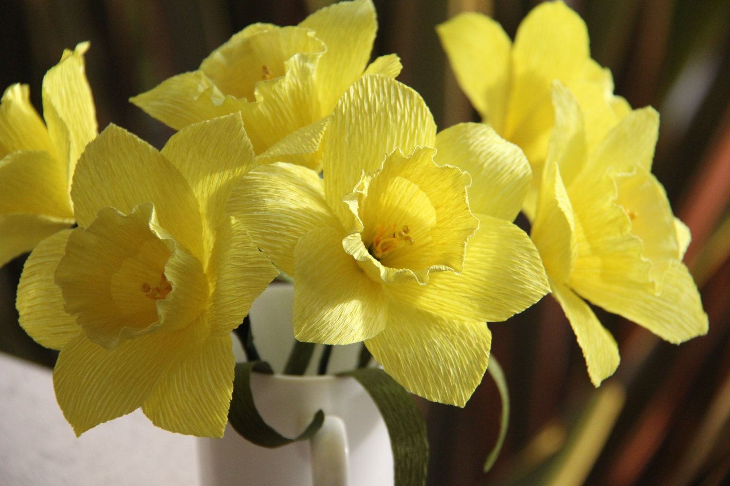 Daffodils Crepe paper flowers