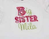 Big Sister Shirt - Personalized Big/Middle/Little Sis Shirt