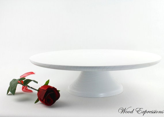 white wedding cake stand 14 inch 14 white wedding cake stand white plate wooden pedestal 27388