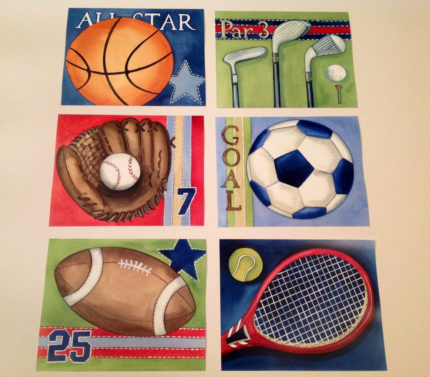 sports boy nursery art sports artwork sports bedding decor