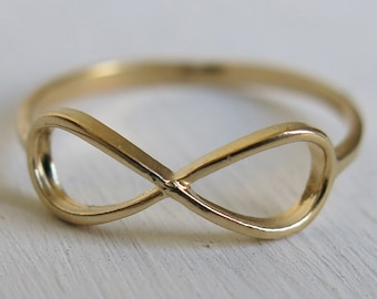 infinity ring, gold filled ring, infinity gold ring, best ...