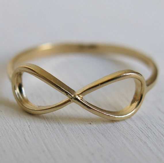 Gold Ring Infinity Ring Thin Ring Gold Filled Ring By Sohocraft