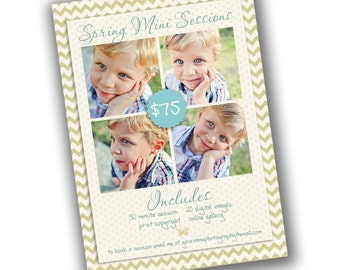 INSTANT DOWNLOAD - Photography Marketing board - 5x7 Newsletter template - 0700