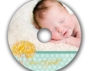 INSTANT DOWNLOAD -  Cd/DVD Label Photoshop template - 0540