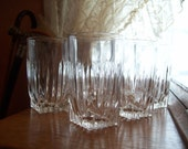 Vintage Indiana Glass Clear Juice Glasses -  Park Avenue Pattern -Set of 6