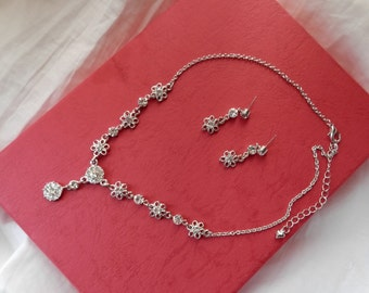 Bridal Necklace Earrings Set, Crystal Necklace Earrings Set, Bridesmaids Necklace Earrings Set (31H164)