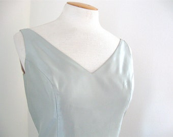 Vintage Jim Hjelm Occasions Ice Blue Satin Taffeta Formal Bridesmaid Prom Gown 10