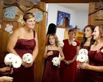 Gerbera daisy bridesmaid bouquet