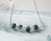 Stormy Seas Silver Chain Necklace And Premium Czech Glass Beads