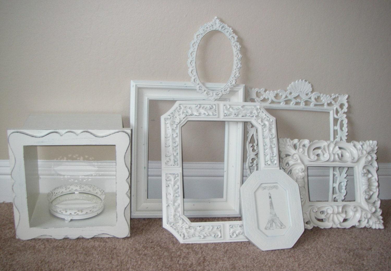 picture frame collection frames baroque vintage white mantle. Black Bedroom Furniture Sets. Home Design Ideas