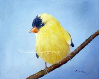 Goldfinch print 8 x 10 giclee Finch print