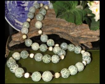 Light Green Carved Jade Necklace
