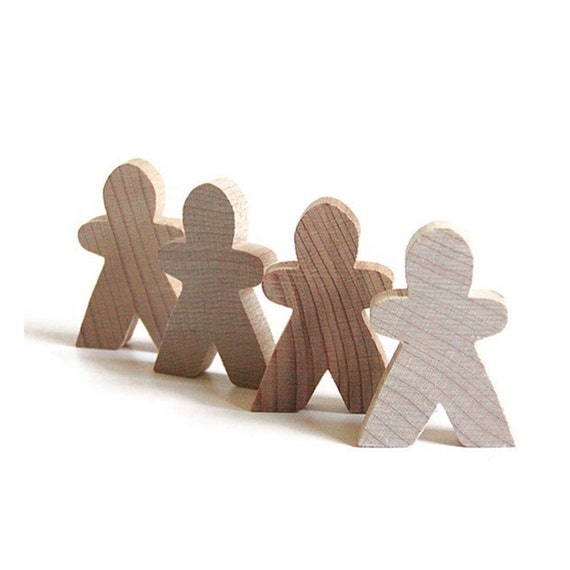 Wood Men, Gingerbread Man, Wood Man, Wooden Men, 13, Scrapbooking, Cut Out, Unfinished, Wood Doll, Children, Crafts, DIY, Game Pieces