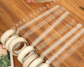 Diy Transtparent Tape - Semt at random, 32 different styles
