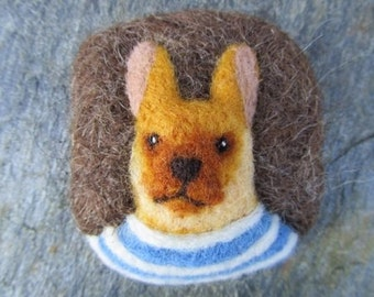 Rabbit wearing a Breton top