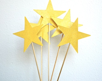 Extra Large Sparkly Star Wands - custom colors available