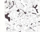 Abstract Line Art 1003 print